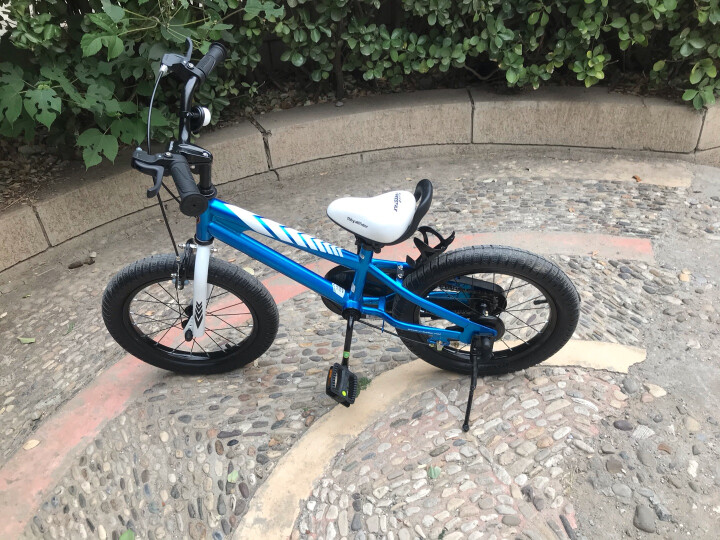 优贝(RoyalBaby)儿童自行车 小孩单车男女童车 宝宝脚踏车山地车 3岁5岁7岁9岁 表演车18寸 蓝色 晒单图