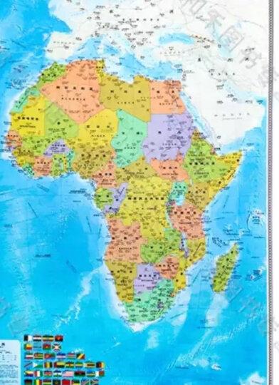 中英文版 非洲地图 1.2米*0.9米 竖版挂图 2020年新版 晒单图