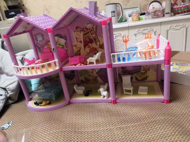 娃娃的房子公主梦幻大别墅之梦想豪宅过家家3-10岁女孩防真度假床屋套装礼盒玩具 956 别墅+背包+贴纸 晒单图