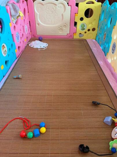 澳乐(AOLE-HW)宝宝室内游戏围栏儿童防摔地上拼接式围栏游乐场 婴儿爬行垫防护栏学步安全栅栏 跑跑熊围栏14片+门栏+玩具栏 晒单图