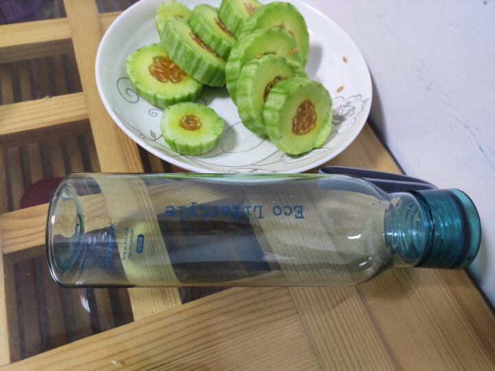 乐扣乐扣(lock&lock)夏季新款运动水壶塑料水杯杯子便携式学生杯HLC644GRN绿色550ML 晒单图