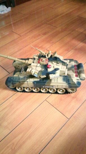 活石 遥控车遥控坦克车军事对战模型亲子摇控汽车充电儿童玩具 33cm互动对战装(2辆) 晒单图