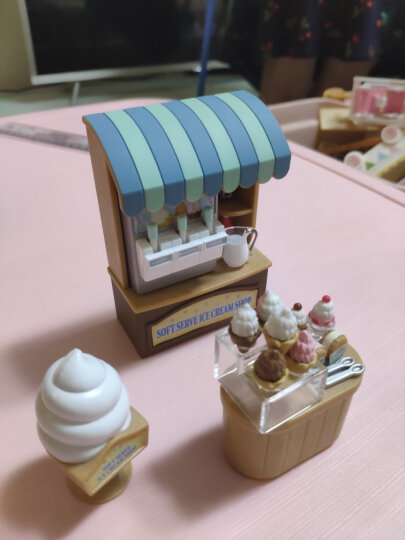 森贝儿家族日本品牌公主玩具女孩娃娃屋仿真森林家族过家家场景商店房子-时尚试衣间SYFC5236 晒单图