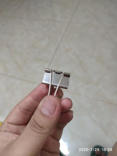齐心(Comix)长尾夹中号 彩色金属燕尾夹票据夹子 4#25mm 48只/筒 办公用品B3634 晒单图