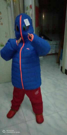 安踏童装 儿童羽绒服加厚童装男童羽绒服冬装外套新品棉衣 (双面穿)骑士蓝-2 140CM 晒单图