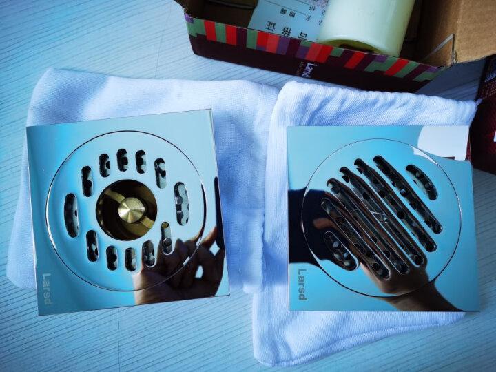 莱尔诗丹(Larsd) 7003卫生间洗衣机地漏 浴室全铜防臭地漏 大流量加厚防堵 晒单图