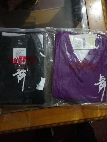 艾舞戈 儿童舞服套装夏V领女童棉舞蹈服装短袖文化衫练功服 紫色-长袖+长裤 120码 (身高120-130cm) 晒单图