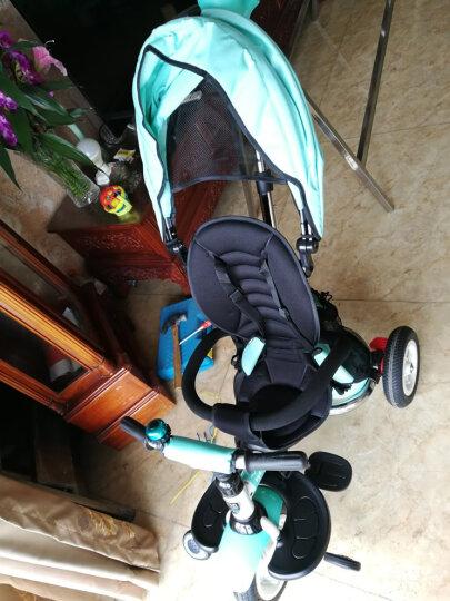 小虎子儿童三轮车脚踏车自行车溜娃神车可折叠躺倒座位转向遛娃车小孩手推车1-3岁T300升级 薄荷绿(折叠款) 晒单图
