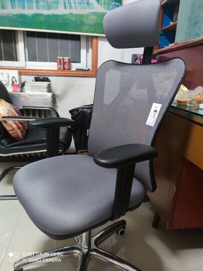 西昊(SIHOO) 人体工学电脑椅子 家用老板椅电竞椅 靠背转椅座椅 撑腰办公椅可躺 M18灰色 晒单图