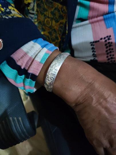 唯一银手镯女士款送妈妈白银999足银镯子首饰品传统福字民族风推拉银老人母亲礼物 龙凤祥福40±1g 晒单图
