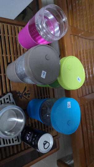 乐美雅 Luminarc 全钢化玻璃炫彩隔热套车载随行水杯茶杯果汁杯 500ml 玫红色 晒单图