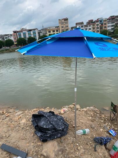 渔之源(Yuzhiyuan) 钓鱼伞2.4米防雨遮阳伞万向折叠渔伞户外垂钓渔具 【简约单层伞】黑胶加固-2.0米绿色 晒单图