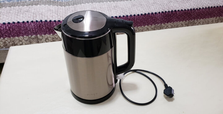 苏泊尔(SUPOR)电水壶热水壶 1.7L全钢无缝双层防烫电热水壶  304不锈钢烧水壶 SWF17E13B 晒单图