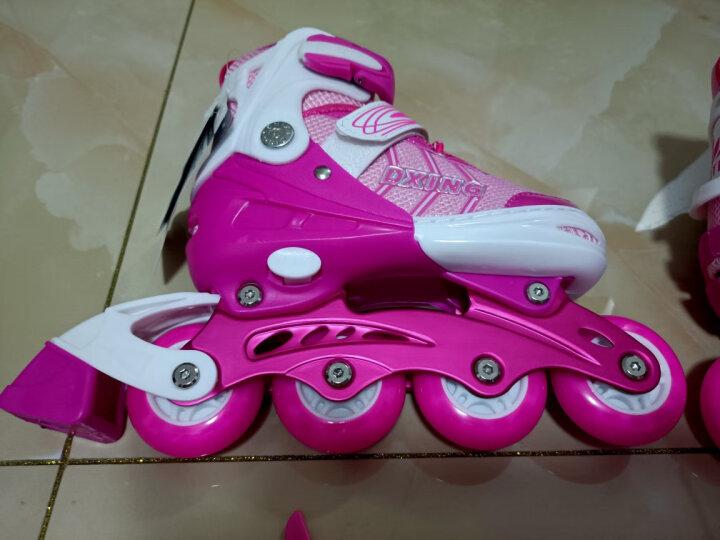 WITESS 溜冰鞋男女儿童套装旱冰鞋8轮PU全闪轮滑鞋滑冰鞋直排可调节大小 升级版-紫色8轮全闪-送加强版全套护具 S码(27码-33码)3岁到7岁 晒单图