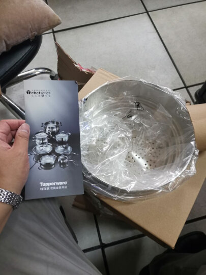 特百惠(Tupperware) 特百惠多功能精钢5.7升锅炒锅平底锅304不锈钢锅具 锅铲子 晒单图