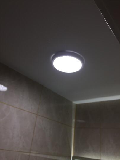欧普照明(OPPLE) 圆形LED吸顶灯厨房灯卫生间浴室阳台灯过道厨卫灯耐用灯具- 12瓦【圆形水滴新款】直径23 透明面罩更亮 晒单图