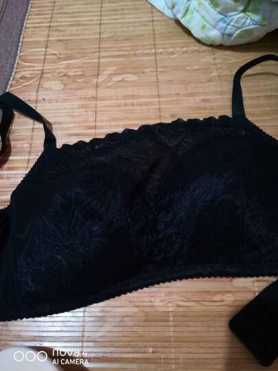 Bomeo/卜美义乳文胸 术后文胸假乳房胸罩无钢圈蕾丝抹胸文胸2201 星空黑 85B 晒单图