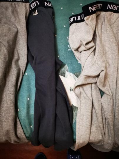 南极人男士秋裤薄款纯棉舒适修身保暖裤秋冬季纯色棉毛裤 单条装 明筋深麻灰 XL 晒单图