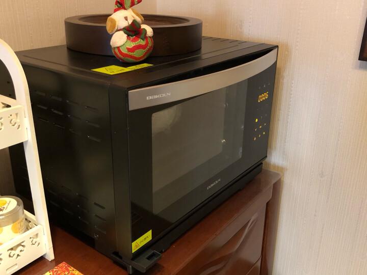德国巴科隆(BAKOLN)蒸箱烤箱蒸烤箱电蒸汽烤箱家用28L容量台式蒸烤二合一体机蒸烤箱BK-28C 黑色BK-28B 晒单图