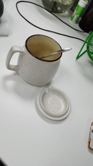 瓷魂 创意早餐陶瓷马克杯情侣咖啡杯牛奶杯带盖带勺办公杯水杯子 蓝色巴黎 晒单图