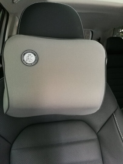 吉吉(GiGi)汽车头枕护颈枕 G-1107太空记忆棉行车靠枕 灰色 晒单图