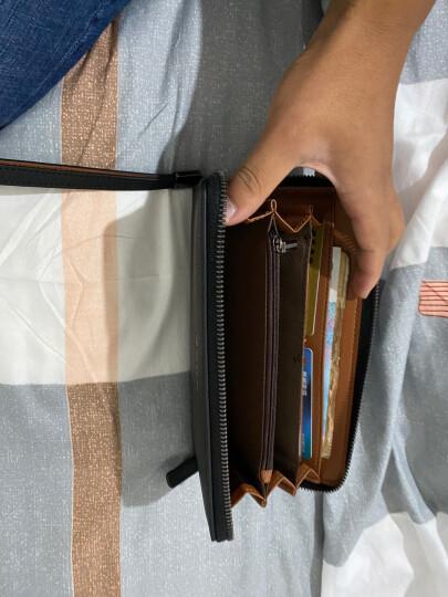 稻草人Mexican商务男士质感牛皮手包男式大容量手抓包男款钱包单拉手拿包MXC40172M-01黑色 晒单图