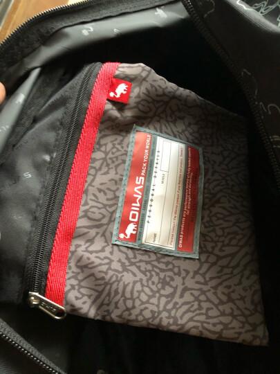 爱华仕(OIWAS)旅行拉杆包 大容量户外行李袋 男女休闲拉杆包 8019红色 晒单图