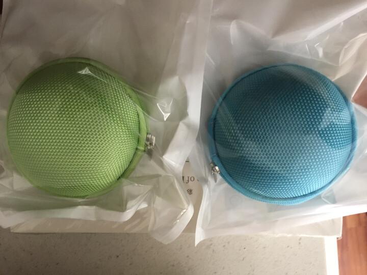 哈马 便携收纳包 多功能收纳盒 耳机收纳袋 数据线包 防震防压 小号圆型-粉色 晒单图