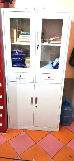 中伟文件柜办公柜钢制铁皮柜资料柜档案柜储物柜通体玻璃文件柜 晒单图