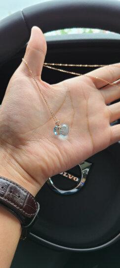 阿梵尼玫瑰金项链女18K金托帕石钻石吊坠福袋芙蓉石粉水晶吊坠 紫水晶彩色宝石锁骨链 18K金黄水晶钻石吊坠 晒单图