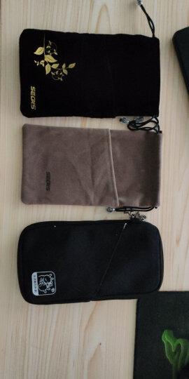色格 手机袋子布袋充电宝保护套罗马仕小米移动电源收纳袋数码硬盘防尘耳机绒布袋束口便携 小号-浅灰 晒单图