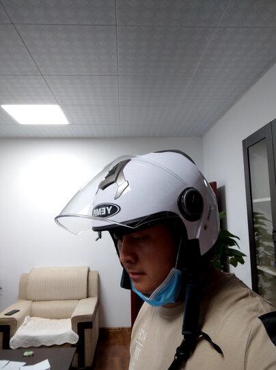 野马(YEMA)6623电动车头盔男女士冬季机车安全帽双镜片半盔 四季通用 均码 白色配防雾镜片 晒单图