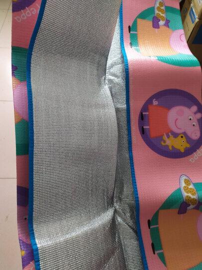 小猪佩奇Peppa Pig 野餐垫户外180*200cm EPE加厚防水铝膜防潮垫沙滩垫草坪垫爬行垫 圆窗一家 晒单图