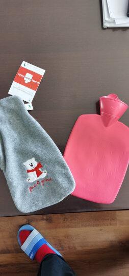 德国原装进口HUGO FROSCH热水袋1.8L加厚卡通绒布防爆无异味注水充水暖水袋非充电暖手宝 双面绒微笑羊驼 米白 晒单图