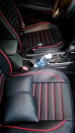 翰静 2020新款汽车坐垫全包围四季通用皮座垫五座小车免拆汽车座套适用于 黑红色 现代索纳塔ix2535悦动途胜名图朗动领动悦纳RV 晒单图