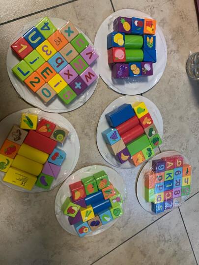 德国(Hape)玩具男孩玩具女孩宝宝玩具120粒果蔬积木玩具桶装男孩女孩生日礼物 1岁+ E8303 晒单图
