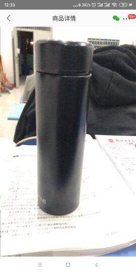 然也(RAE)450ml双层真空304不锈钢保温杯壶男女大容量带茶隔过滤泡茶杯便携商务办公水杯子WCO黑色R3037 晒单图