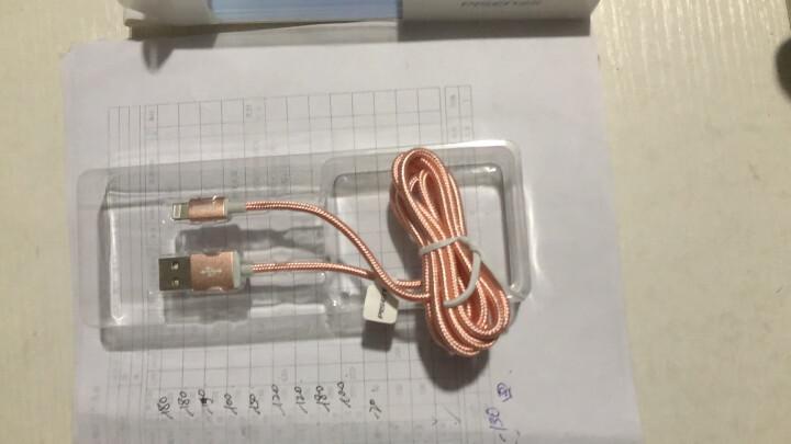 品胜 苹果双面USB数据充电尼龙线 适用于苹果Xs Max/XR/X/6s/7/8plus/6/5S iPad air/Pro 1.5米玫瑰金 晒单图