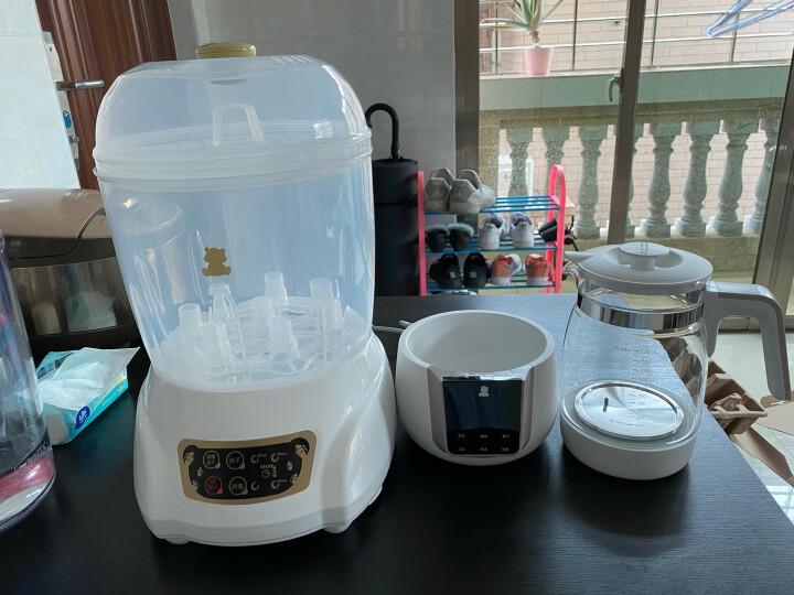 小白熊 (Snow Bear) 婴儿奶瓶蒸汽消毒器带烘干二合一 宝宝专用消毒器消毒锅蒸汽消毒柜HL-0681 晒单图