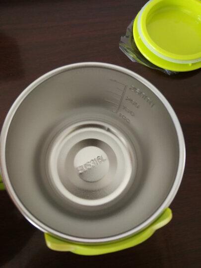 迪士尼(Disney)婴儿童保温杯 宝宝单柄训练喝水口杯子小孩家用学饮杯不锈钢带盖290ML HM1623N 米妮粉 晒单图