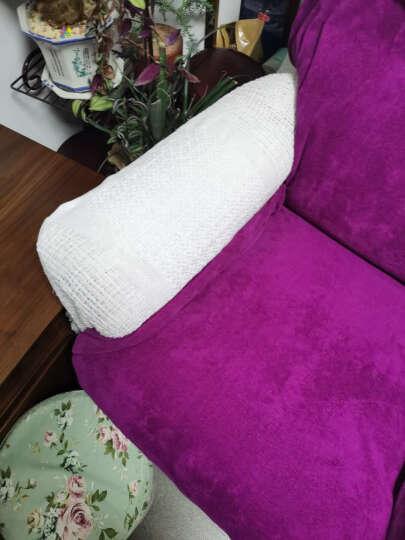 原素品制沙发巾盖布防滑沙发套全包欧式沙发垫套装组合沙发四季通用沙发布全盖 湖蓝色菱形格子款 180*230cm适合双人位沙发 晒单图