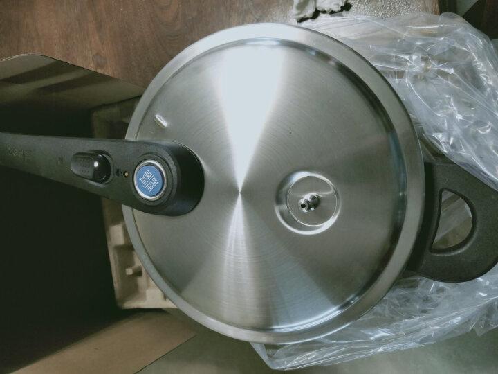 苏泊尔(SUPOR) 压力锅蓝眼304不锈钢高压锅加厚复底家用炖锅燃气电磁炉通用锅具 22CM YW22L1   5.2升 晒单图