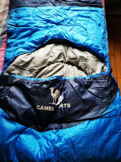 骆驼(CAMEL)户外睡袋 轻盈加厚保暖双人旅行露营室内便携成人睡袋 深宝蓝/彩蓝1.1kg(右边) 均码 晒单图