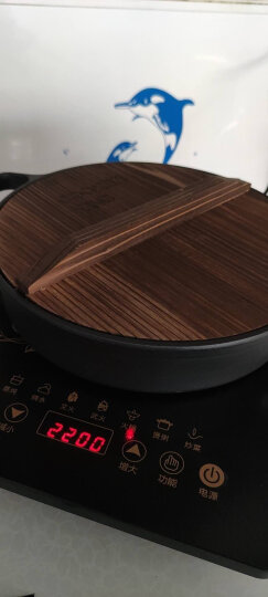 炊大皇平底锅加厚铸铁煎盘中式双耳煎锅26cm牛排煎锅电磁炉通用 晒单图