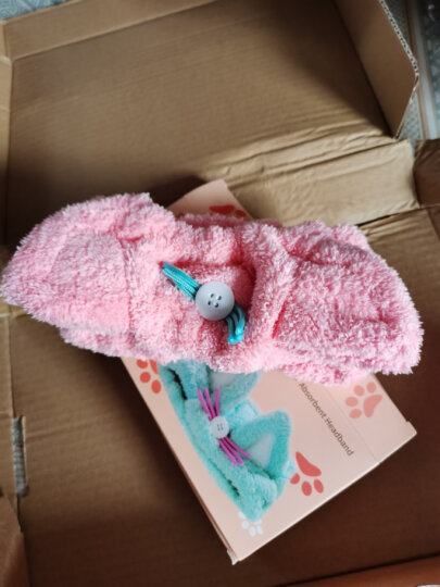 NISHIKI 日本干发帽强吸水干发巾加厚速干成人可爱毛巾浴帽 束发带浅蓝 晒单图