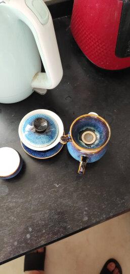 苏氏陶瓷(SUSHI CERAMICS)茶具新窑变银丝釉陶瓷茶碗苹果茶杯13头功夫茶具套装 晒单图