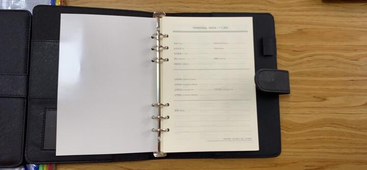 得力(deli)25K100张商务活页笔记本子文具 工作记事本皮面本办公用品 黑色3151 晒单图