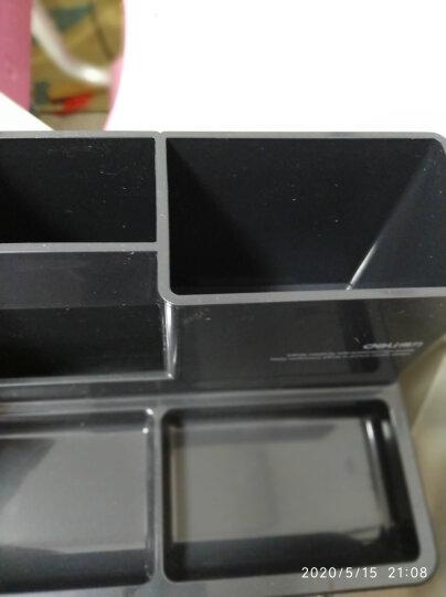 得力(deli)五格简约桌面收纳盒 多功能办公笔筒 白色 晒单图