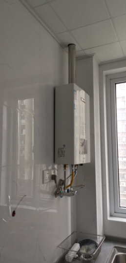 科帕滋 加厚304不锈钢排烟管直径6cm强排式燃气热水器排气管弯头阀门配件 6x50cm户外防倒风管 晒单图