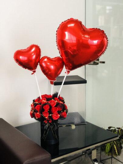 I'M HUAHUA 21朵红色香皂玫瑰花束礼盒仿鲜花纪念日生日花束520情人节母亲节礼物仿鲜花送女生送女友 晒单图